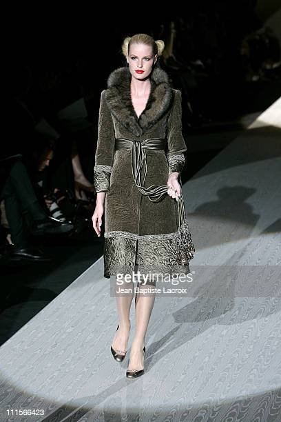 Caroline Winberg wearing Valentino Fall/Winter 2005/2006 Haute Couture