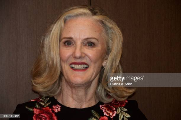 Caroline Wonfor Georgina Chapman's mother at a dinner party hosted by filmmaker Mozez Singh at his home in Mumbai on April 8 2017 in Mumbai India