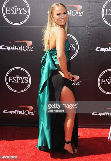 Caroline Wozniacki arrives at The 2015 ESPYS at Microsoft Theater on July 15 2015 in Los Angeles California