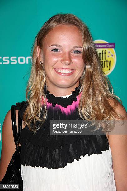 Caroline Wozniacki arrives at the Sony Ericsson VIP Party at Liv Nightclub at Fontainebleau Miami on March 25 2009 in Miami Beach Florida