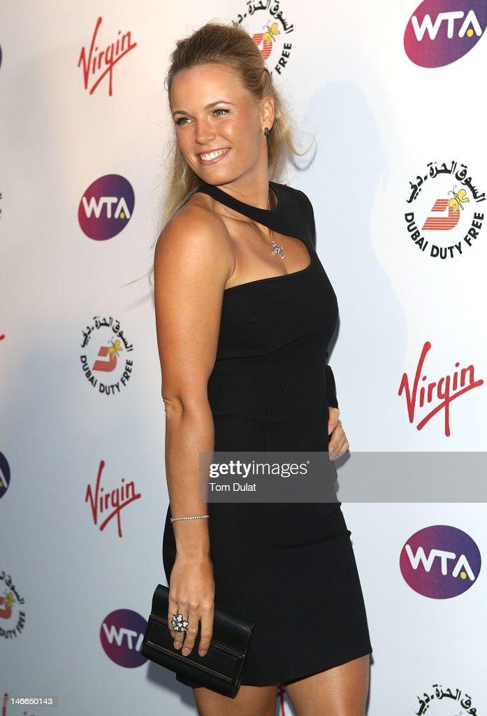 fcdb8130c62 Caroline Wozniacki arrives at the WTA Tour Pre-Wimbledon Party at ...