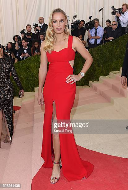 Caroline Wozniacki arrives for the 'Manus x Machina Fashion In An Age Of Technology' Costume Institute Gala at Metropolitan Museum of Art on May 2...