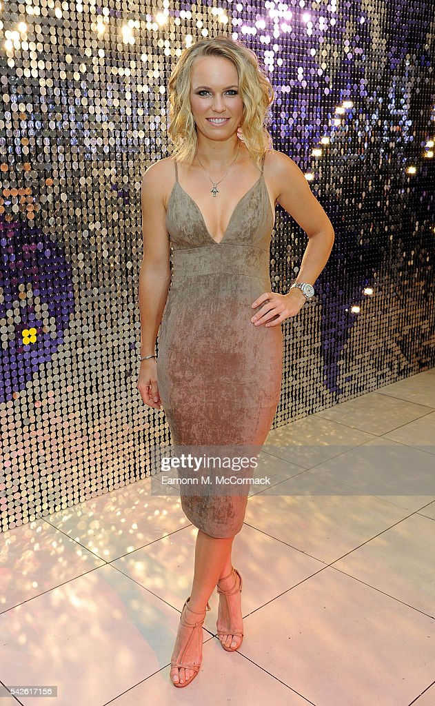 Caroline Wozniacki attends the annual WTA Pre-Wimbledon Party presented by Dubai Duty Free at the Kensington Roof Gardens on June 23, 2016 in London, England.
