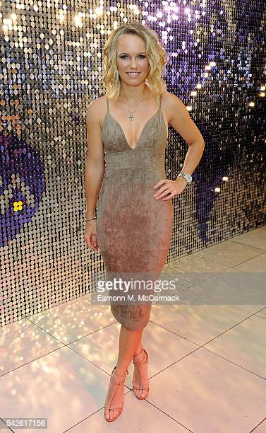 Caroline Wozniacki attends the annual WTA PreWimbledon Party presented by Dubai Duty Free at the Kensington Roof Gardens on June 23 2016 in London...