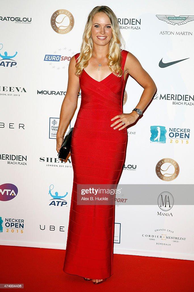 Caroline Wozniacki attends the Champ'Seed party on May 19, 2015 in Monaco, Monaco.