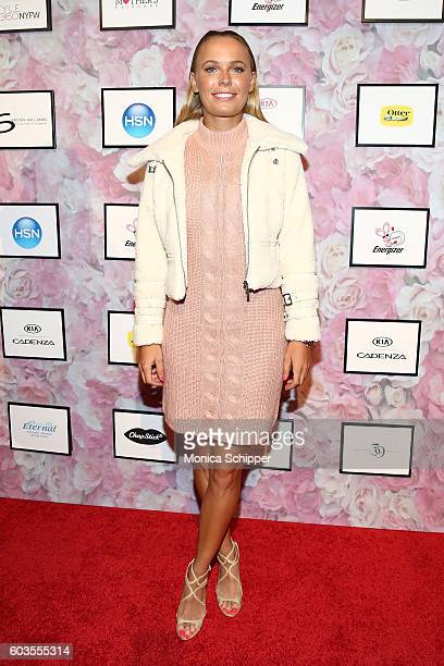 Caroline Wozniacki attends the Serena Williams Signature Statement Collection By HSN during Style360 Fashion Week at Metropolitan West on September...