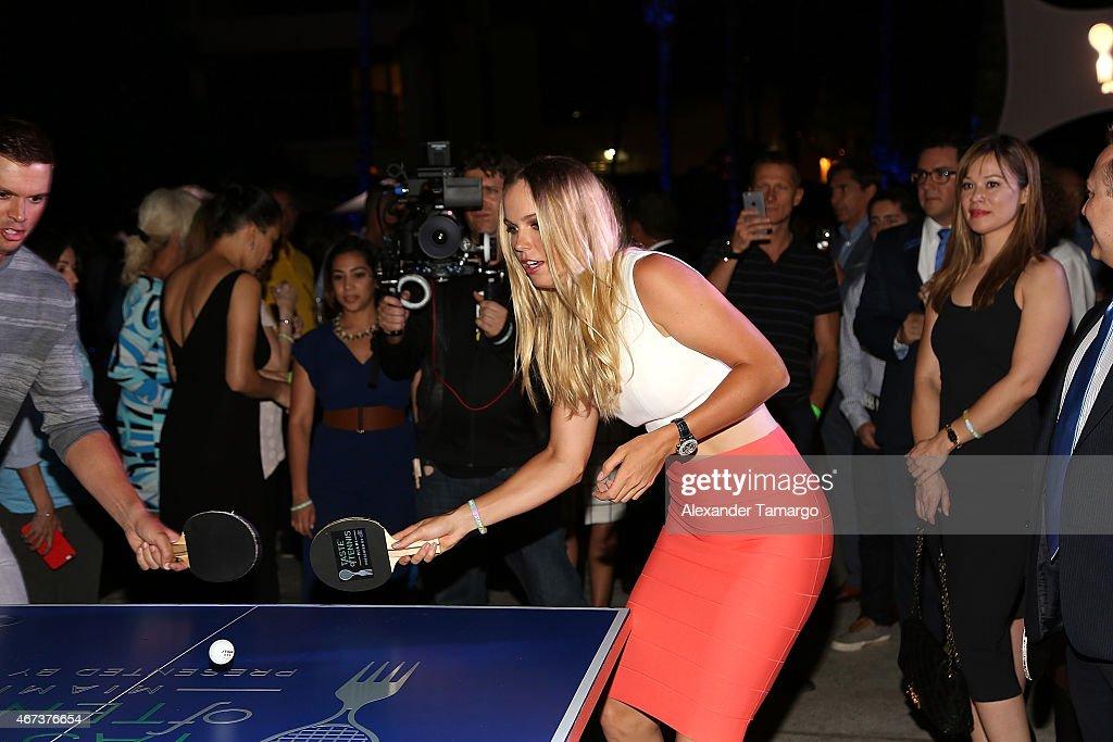 Caroline Wozniacki attends the Taste Of Tennis Miami Presented By Citi at W South Beach on March 23, 2015 in Miami Beach, Florida.