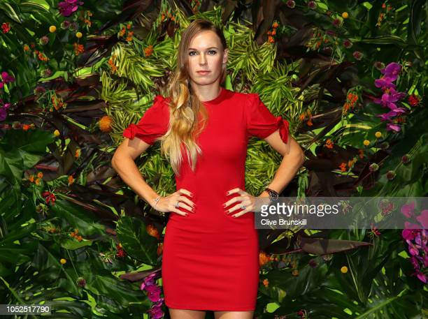 Caroline Wozniacki of Denmark arrives during the Official Draw Ceremony and Gala of the BNP Paribas WTA Finals Singapore presented by SC Global at...