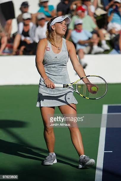 Caroline Wozniacki of Denmark attends the 6th Annual KSwiss Desert Smash Day 1 at La Quinta Resort and Club on March 9 2010 in La Quinta California