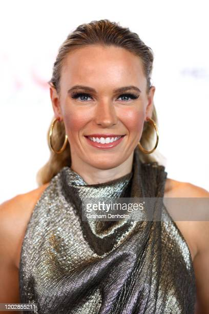 Caroline Wozniacki of Denmark attends the AO Inspirational Series Lunch during the Australian Open 2020 at The Glasshouse at Melbourne Park on...