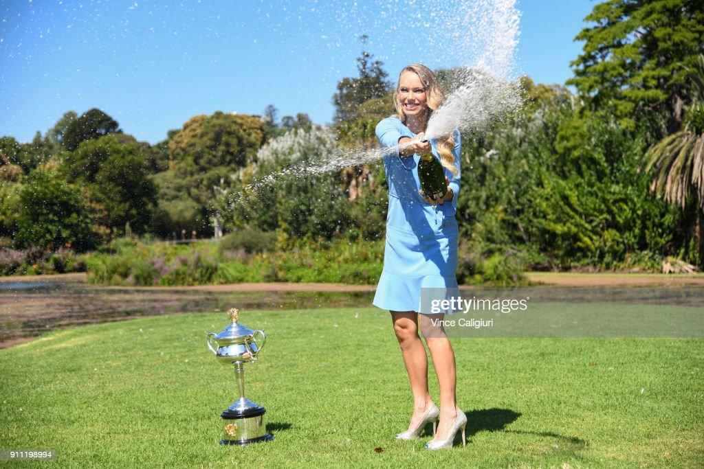 2018 Australian Open: Women's Trophy Media Opportunity : News Photo