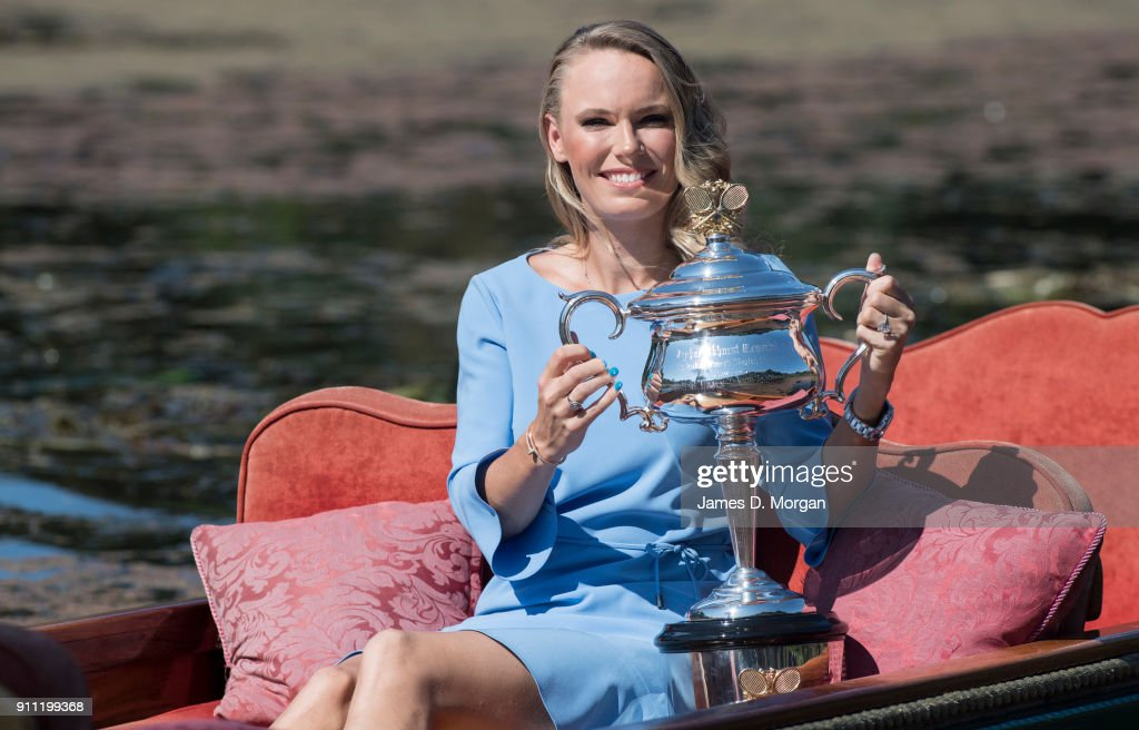 2018 Australian Open: Women's Trophy Media Opportunity : News Photo