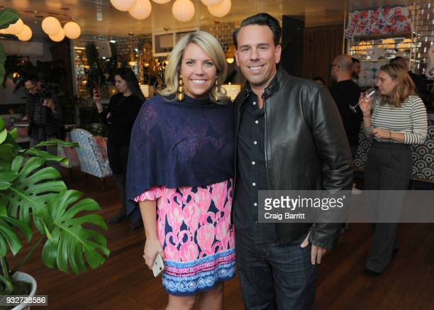 Caroline Wright and Todd Wandell attend the Launch Celebration of the Pottery Barn Pottery Barn Kids PBteen and Lilly Pulitzer Exclusive Collection...