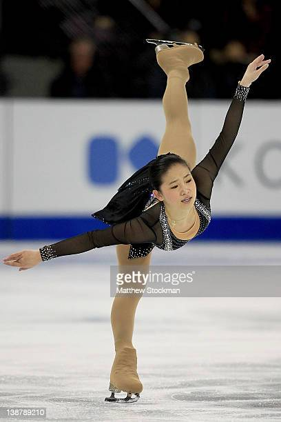 Caroline Zhang competes in the Ladies Free Skate during the ISU Four Continents Figure Skating Championships at World Arena on February 11 2012 in...
