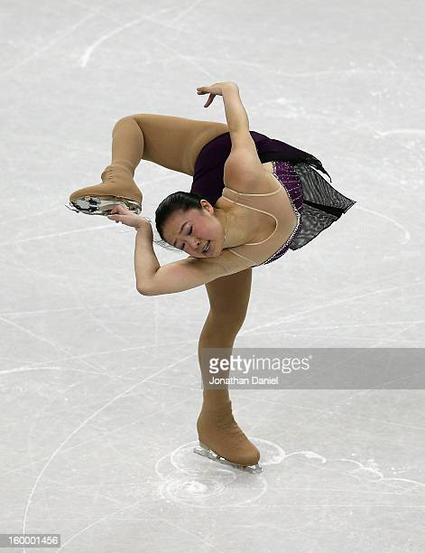 Caroline Zhang competes in the Ladies Short Program during the 2013 Prudential US Figure Skating Championships at CenturyLink Center on January 24...