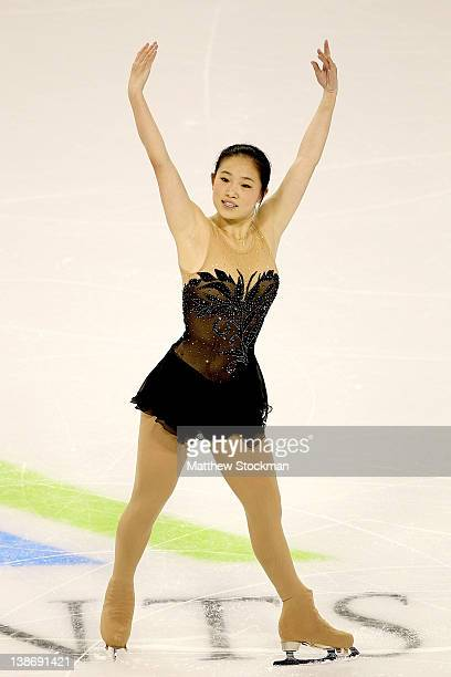Caroline Zhang competes in the Ladies Short Program during the ISU Four Continents Figure Skating Championships at World Arena on February 10 2012 in...