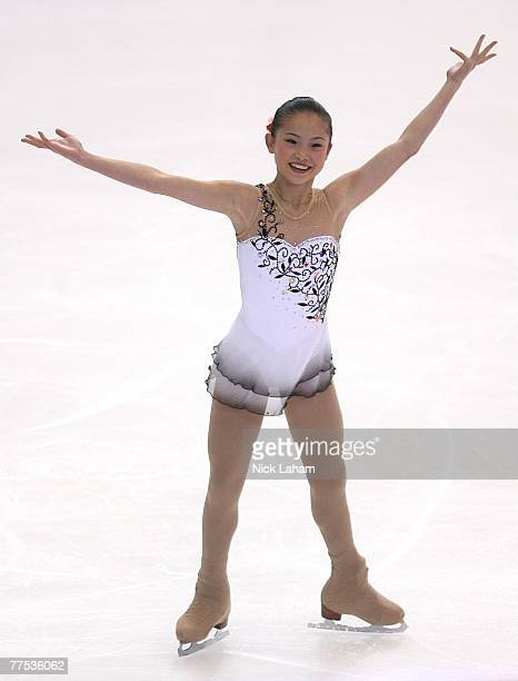 Caroline Zhang competes in the ladies short program of 2007 Skate America at the Sovereign Center October 27 2007 in Reading Pennsylvania