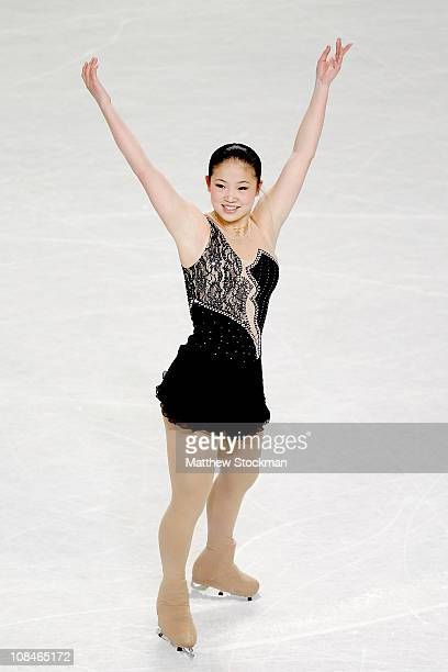 Caroline Zhang competes in the Senior ladies Short Program during the US Figure Skating Championships at the Greensboro Coliseum on January 27 2011...