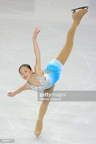 Caroline Zhang of the United States skates in the Short Program during the ISU Four Continents Figure Skating Championships at Pacific Coliseum on...