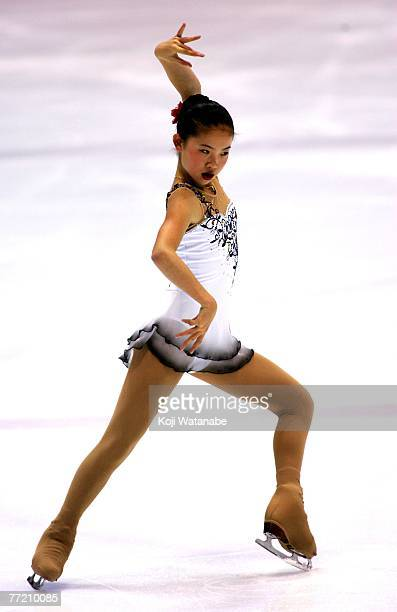 Caroline Zhang of USA skates during the Ladies Short Program during the International Counter Match Figure Skating Competition USA vs JPN 2007...