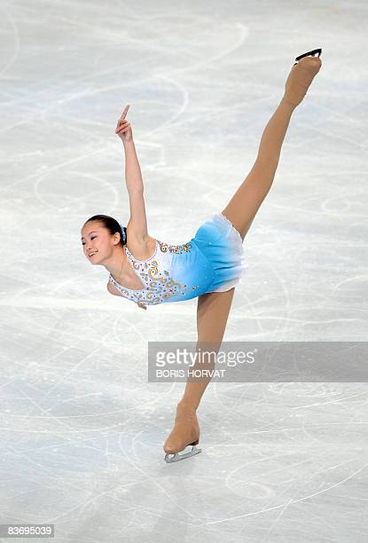 US Caroline Zhang performs during the Ladies short program event of the Eric Bompard Figure Skating trophy on November 14 2008 at the...