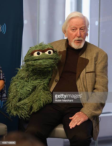 Caroll Spinney Oscar and Big Bird attends SiriusXM's Town Hall with original cast members from Sesame Street commemorating the 45th anniversary of...