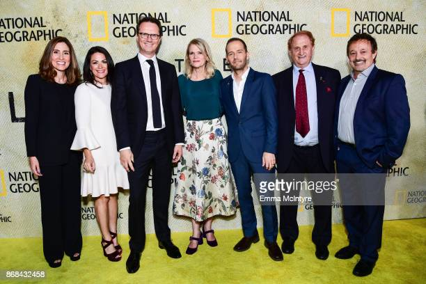 Carolyn Bernstein Courtney Monroe Peter Rice Martha Raddatz Mikko Alanne Mike Medavoy and Jason Clark attend the premiere of National Geographic's...