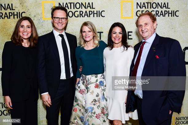 Carolyn Bernstein Peter Rice Martha Raddatz Courtney Monroe and Mike Medavoy attend the premiere of National Geographic's 'The Long Road Home' at...