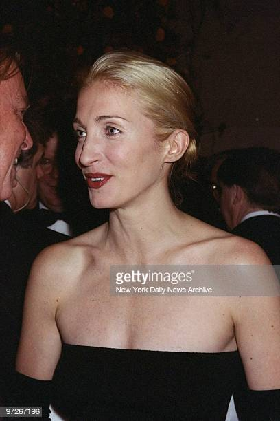 Carolyn Bessette Kennedy attending Municipal Art Society gala at Grand Central Terminal