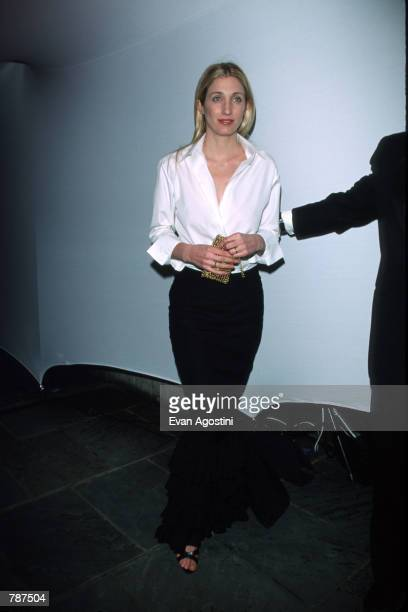 Carolyn Bessette Kennedy poses for a picture at the Annual Fundraising Gala March 9 1999 at the Whitney Museum of American Art in New York City It is...