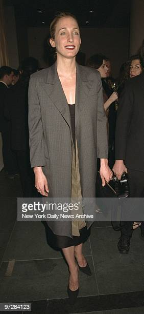 Carolyn BessetteKennedy appears at the opening of Krizia An Exhibition at the Grey Art Gallery at New York University