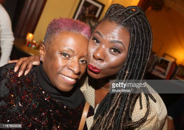 Carolyn Davis Day and daughter Creator/Host of North of 40 Podcast Maryam Myika Day pose at the celebration for the North of 40 Podcast Launch at...