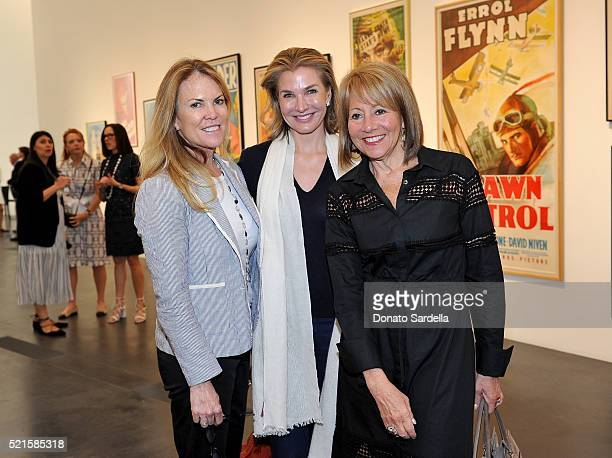Carolyn Diemer Eliza Osborne and Lisa Dennison attend LACMA 2016 Collectors Committee Breakfast and Curator Presentations on April 16 2016 in Los...
