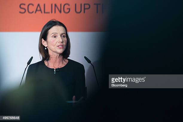 Carolyn Fairbairn director general of Confederation of British Industry speaks at the MSB Summit 2015 in the City of London UK on Monday Nov 30 2015...