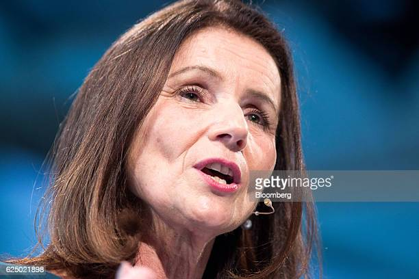 Carolyn Fairbairn director general of the Confederation of British Industry speaks at the Confederation of British Industry annual conference in...