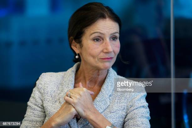 Carolyn Fairbairn director general of the Confederation of British Industry pauses during an interview in London UK on Wednesday May 24 2017...