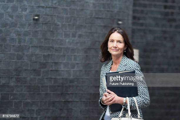 Carolyn Fairbairn director general of the Confederation of British Industry arrives at Downing Street for the first in a series of meetings between...