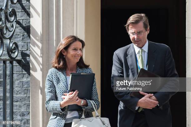Carolyn Fairbairn director general of the Confederation of British Industry leaves 10 Downing Street after the first in a series of meetings between...