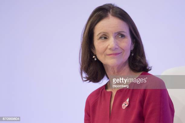 Carolyn Fairbairn director general of the Confederation of British Industry listens during the CBI Annual Conference in London UK on Monday Nov 6...