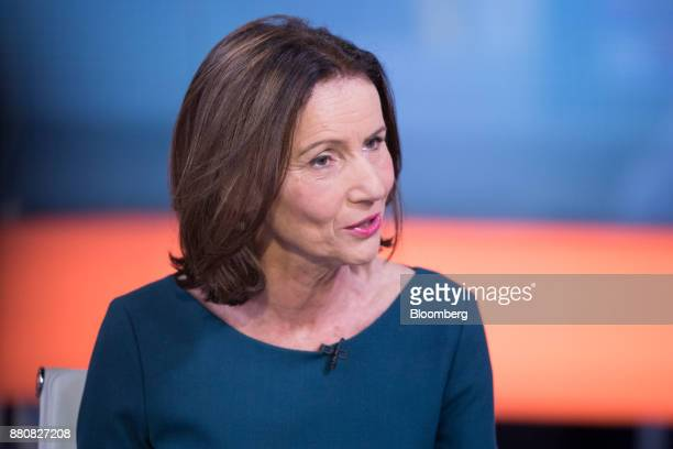 Carolyn Fairbairn director general of the Confederation of British Industry speaks during a Bloomberg Television interview in London UK on Tuesday...