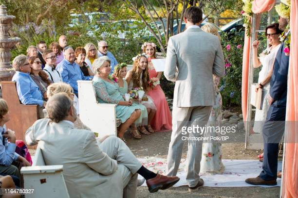 Carolyn Garth Fiona Facinelli Luca Facinelli and Lola Facinelli are seen at Jennie Garth and Dave Abrams' wedding at a private residence July 11 2015...