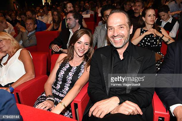 Carolyn Genzkow and AKIZ attend the Foerderpreis HFF during the Munich Film Festival at on July 3 2015 in Munich Germany
