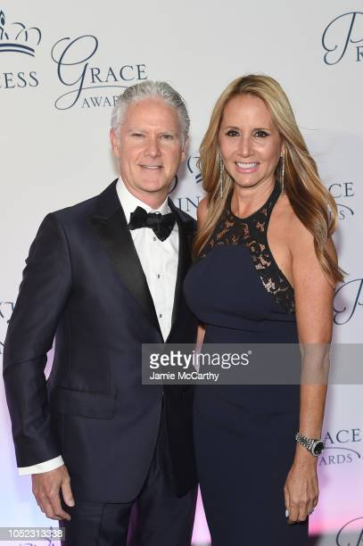 Carolyn Gussoff and Jon B Turk MD attend the 2018 Princess Grace Awards Gala at Cipriani 25 Broadway on October 16 2018 in New York City