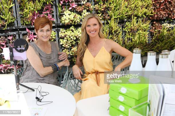 Carolyn Hennesy and Dr Trevor Cates attend Debbie Durkin's EcoLuxe Lounge TV Awards at The Beverly Hilton Hotel on September 20 2019 in Beverly Hills...