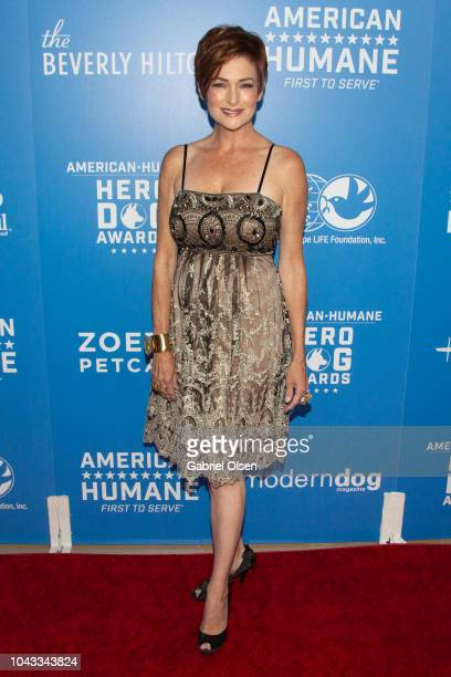 Carolyn Hennesy arrives for the American Humane's 2018 American Humane Hero Dog Awards at The Beverly Hilton Hotel on September 29 2018 in Beverly...