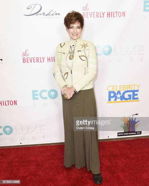 Carolyn Hennesy at EcoLuxe PreOscars Lounge at The Beverly Hilton Hotel on March 2 2018 in Beverly Hills California