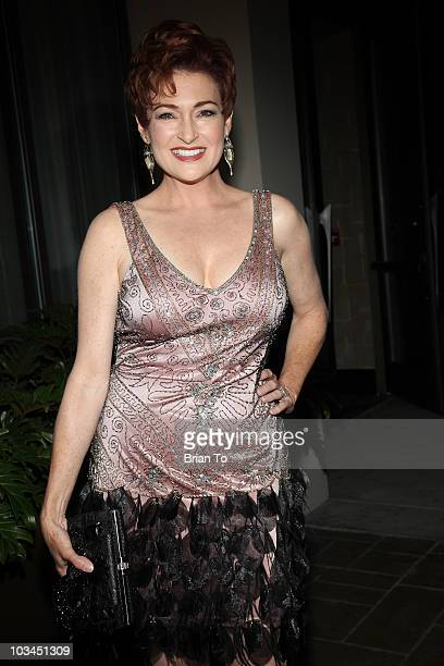 Carolyn Hennesy attends cougar style soiree hosted by Cougar Town star Carolyn Hennesy at Hotel Palomar on August 18 2010 in Los Angeles California