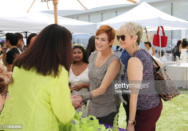 Carolyn Hennesy attends Debbie Durkin's EcoLuxe Lounge TV Awards at The Beverly Hilton Hotel on September 20 2019 in Beverly Hills California