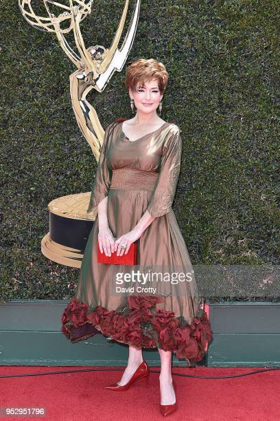 Carolyn Hennesy attends the 2018 Daytime Emmy Awards Arrivals at Pasadena Civic Auditorium on April 29 2018 in Pasadena California