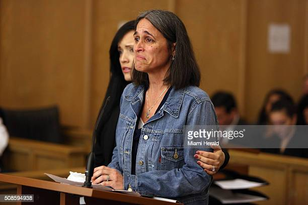 Carolyn Knox mother of the slain woman speaks during during the sentencing of Derek Medina on Feb 5 2016 in Miami Medina received a life in prison...